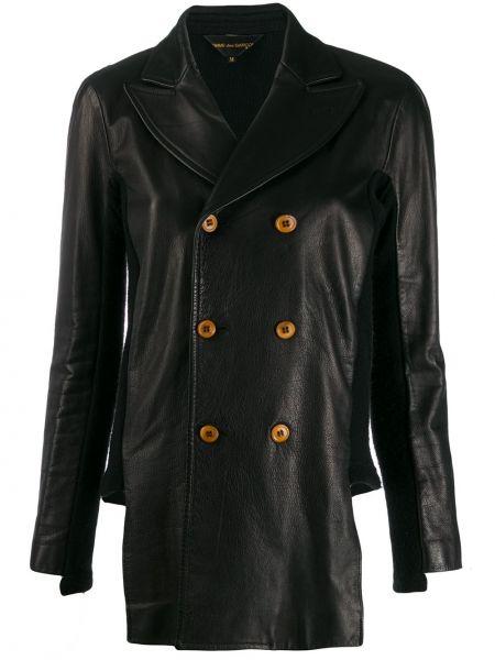Черная кожаная куртка двубортная Comme Des Garçons Pre-owned