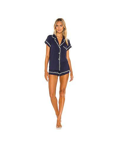 Пижамный синий купальник на резинке Eberjey