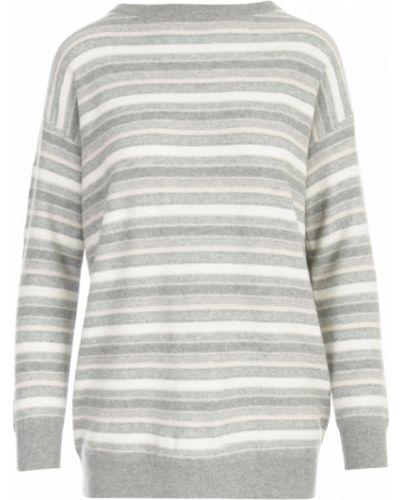 Szary sweter w paski Fabiana Filippi