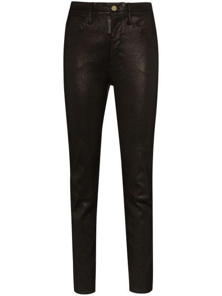 Spodnie z wysokim stanem spodnie chuligańskie czarne Frame