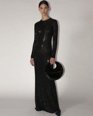 Платье с пайетками с вышивкой Giorgio Armani