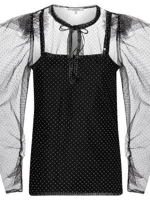 Ватная хлопковая черная блузка Dorothee Schumacher