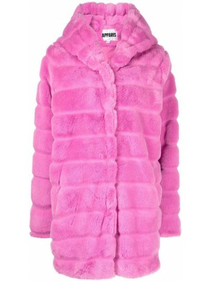 Różowy płaszcz z kapturem Apparis
