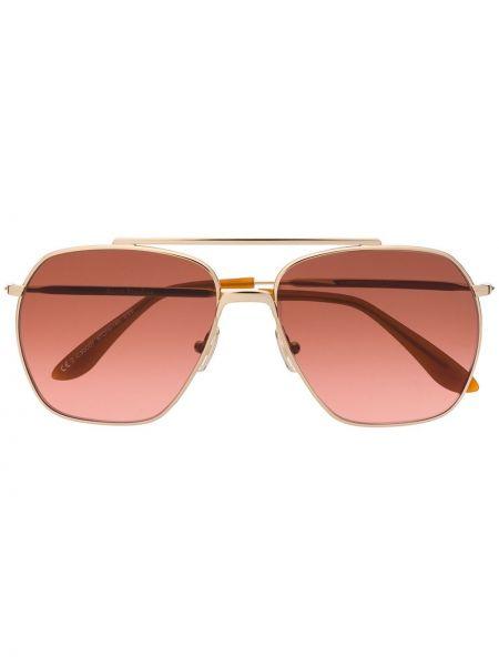 Złote okulary - khaki Acne Studios