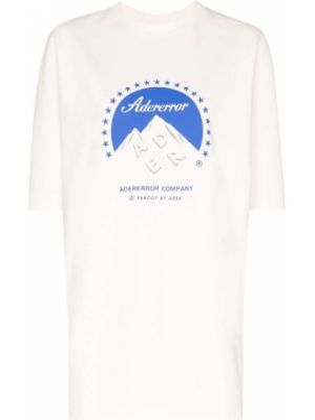 T-shirt z printem - biała Ader Error