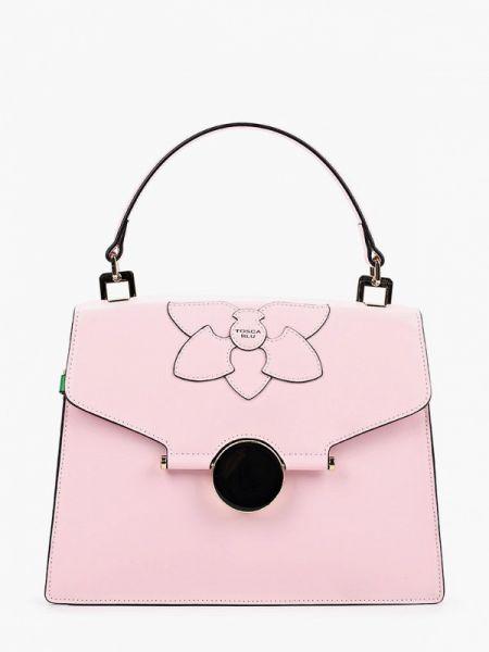 Кожаная сумка через плечо розовый Tosca Blu