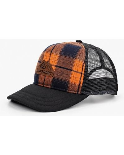Оранжевая бейсболка Superdry