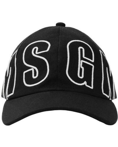 Bawełna bawełna czarny kapelusz Msgm