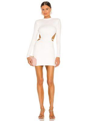 Белое платье мини с подкладкой на молнии Michael Costello