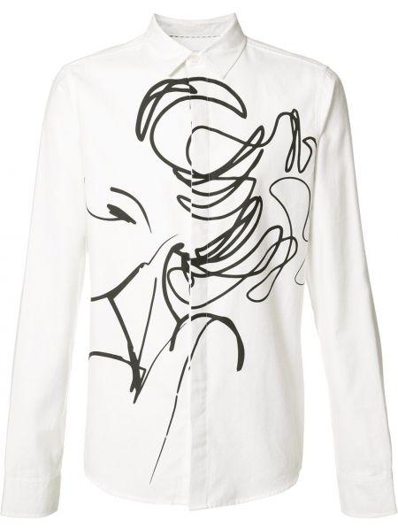 Белая кашемировая рубашка Private Stock
