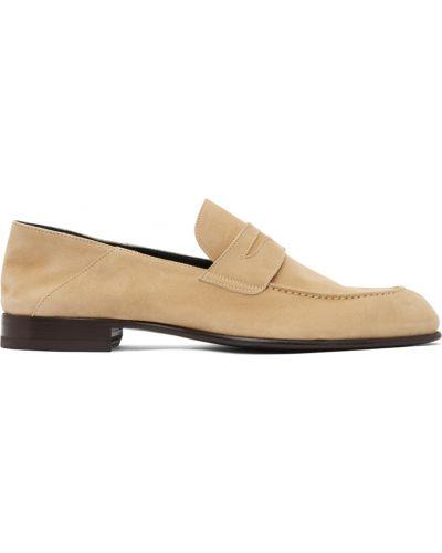 Loafers zamszowe - czarne Brioni