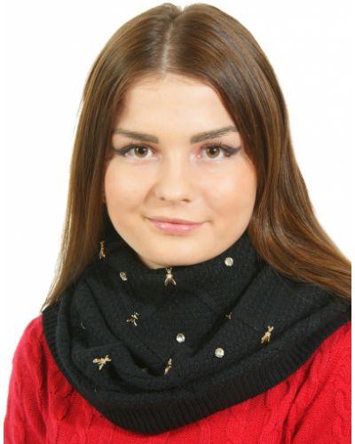 Кашемировый шарф - черный Patrizia Pepe