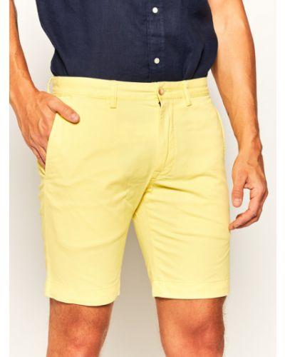 Szorty materiałowe - żółte Polo Ralph Lauren