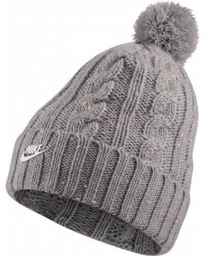 Зимняя шапка с отворотом с помпоном Nike