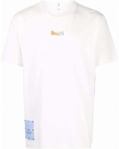 Biała koszulka bawełniana Mcq