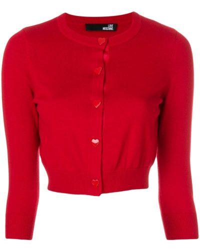 Красный кардиган Love Moschino