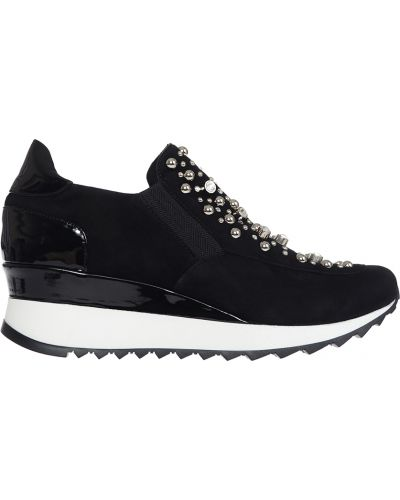 Черные кроссовки замшевые Loriblu