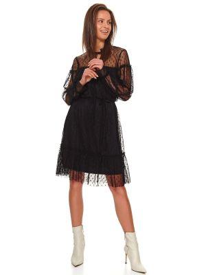 Sukienka materiałowa - czarna Top Secret
