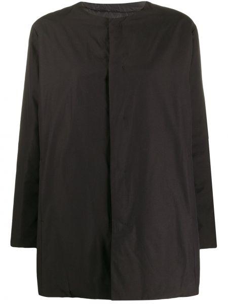 Черная длинная куртка двусторонняя круглая Plantation