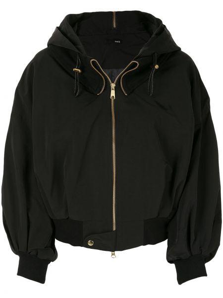 Черная куртка с капюшоном с манжетами Frei Ea