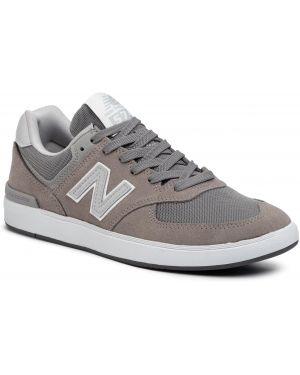 Skórzane sneakersy szary zamszowe New Balance