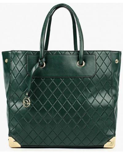 Кожаная сумка - зеленая Carpisa