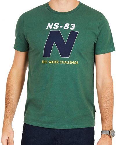 Футболка с принтом - зеленая Nautica