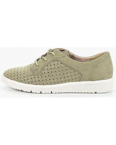 Ботинки зеленые велюровый Tamaris