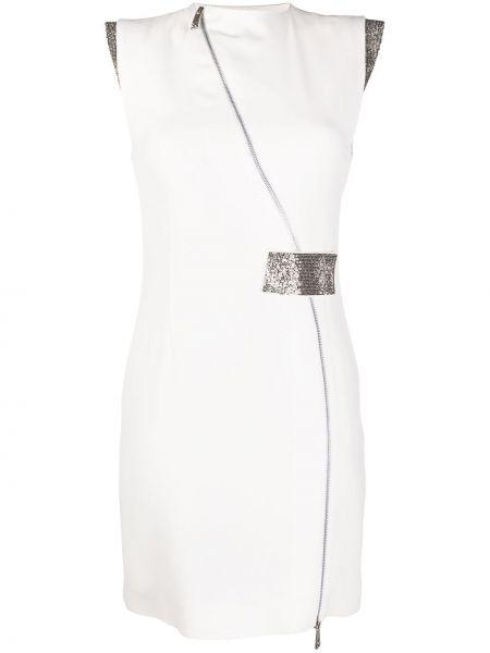 Платье мини на молнии с рукавами John Richmond