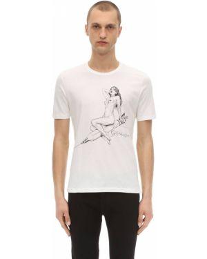 Prążkowana biała koszula bawełniana Passarella Death Squad