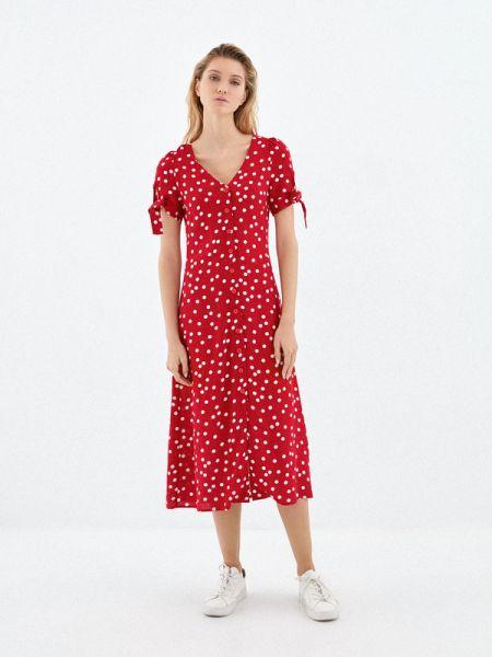 Купальник-платье красное платье из вискозы Zarina