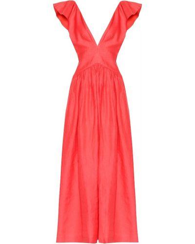 Льняное платье макси Kalita
