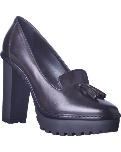 Черные туфли на танкетке Moncler