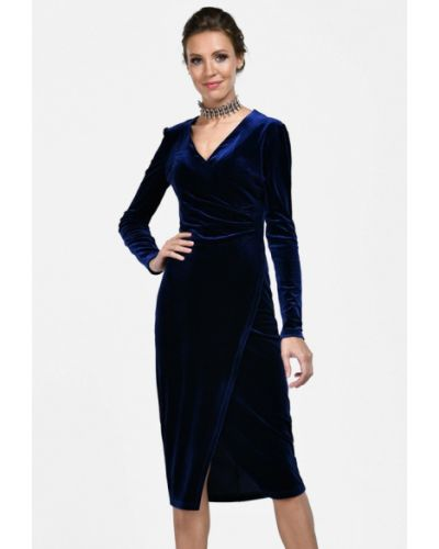 Вечернее платье осеннее синее Alisia Fiori