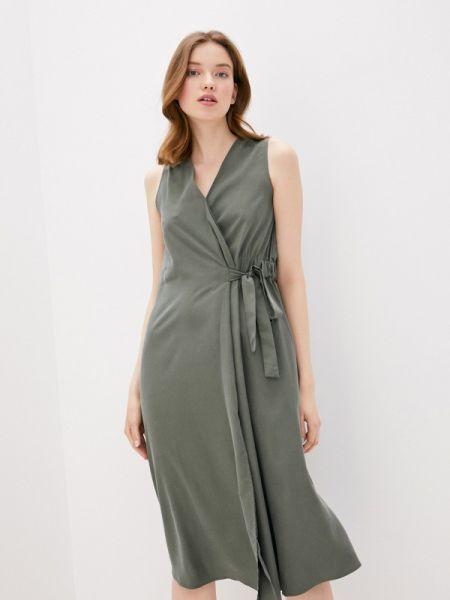 Платье с запахом зеленый Savage