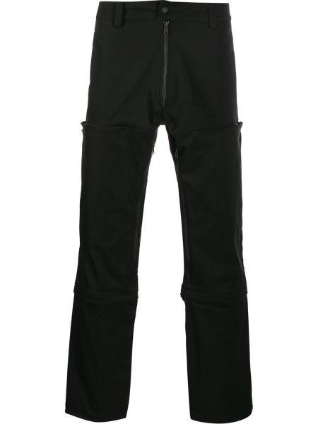 Czarne spodnie z wysokim stanem z paskiem Nilmance