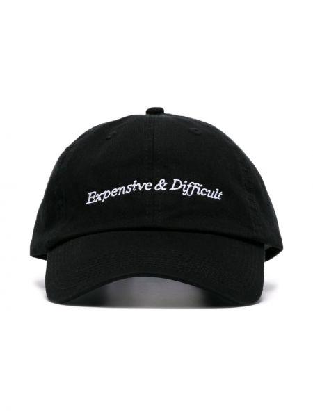 Czarny kapelusz wełniany z haftem Nasaseasons