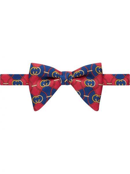 Krawat jedwab dom Gucci