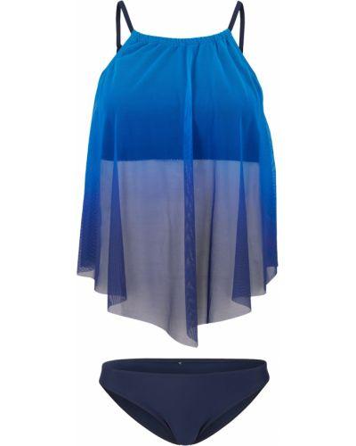 Синие танкини эластичные с чашками Bonprix