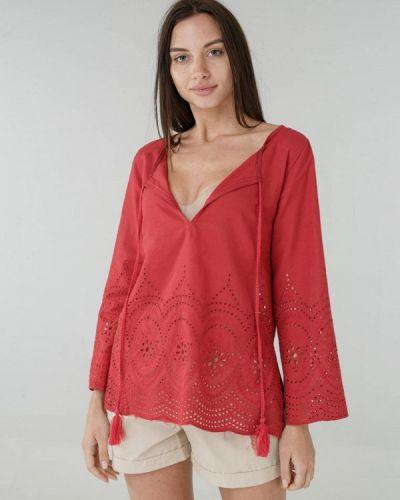 Пляжное платье весеннее красный Ora