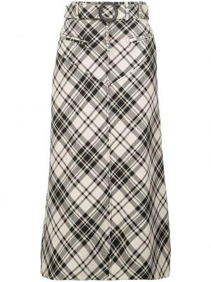 Czarna spódnica z paskiem bawełniana Ellery