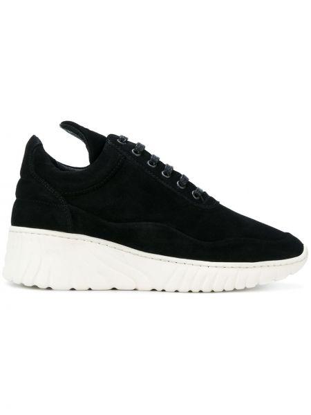 Кожаные кроссовки - черные Filling Pieces