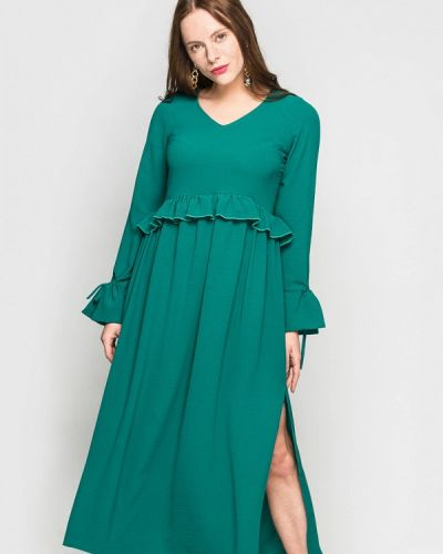 Платье весеннее зеленый Evercode