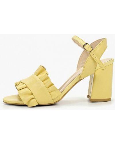 Босоножки желтый на каблуке Laremo