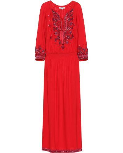Платье макси с вышивкой из вискозы Melissa Odabash