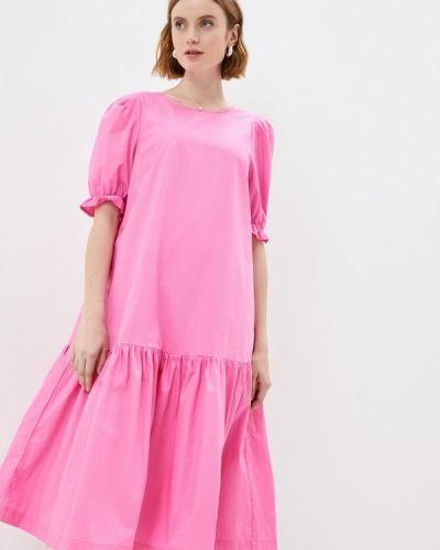 Розовое прямое платье Ichi