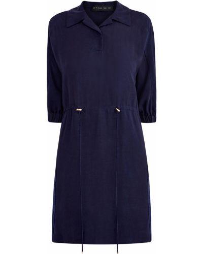 Платье с поясом платье-рубашка с отложным воротником Etro