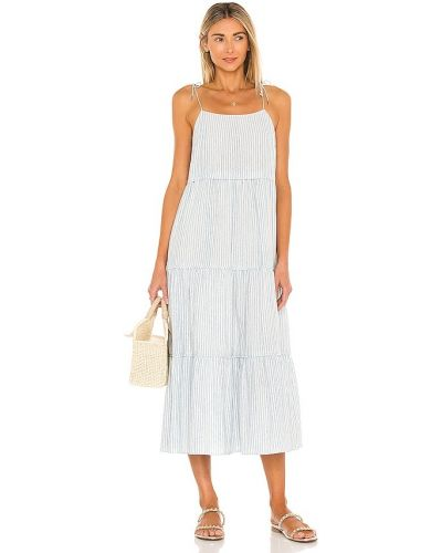 Niebieska sukienka midi bawełniana Saylor