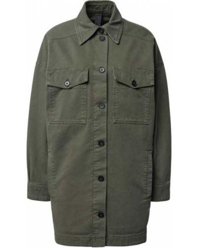 Zielona kurtka sportowa bawełniana Drykorn