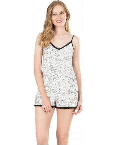 Biała satynowa piżama Vienetta